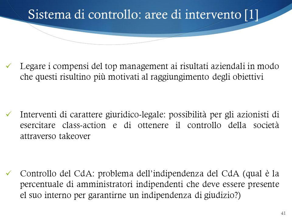 Sistema di controllo: aree di intervento [1]